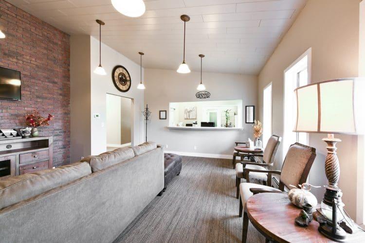 Schaffner Family Dental. Fort Collins Dental Office. Comfortable waiting room.