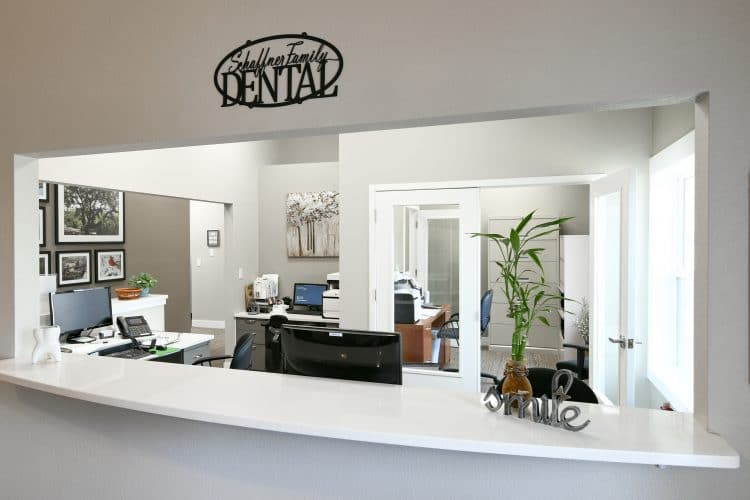 Schaffner Family Dental. Modern Dental Office. Front Desk